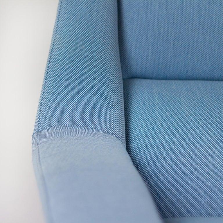 Powder Blue Mid Century Armchair by Folke Ohlsson for Fritz Hansen, Denmark For Sale 2