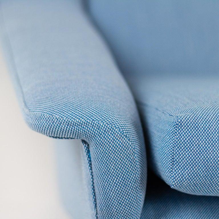 Powder Blue Mid Century Armchair by Folke Ohlsson for Fritz Hansen, Denmark For Sale 6