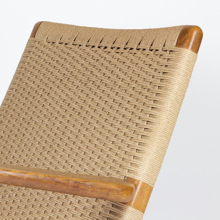 Papercord CH25 Lounge Chair by Hans J. Wegner For Sale