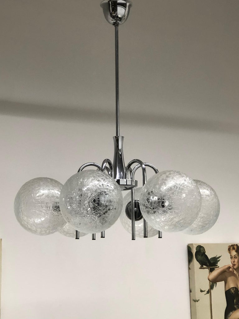 This Mid Century Modern Chandelier Was Made In The 1960s Germany It Is