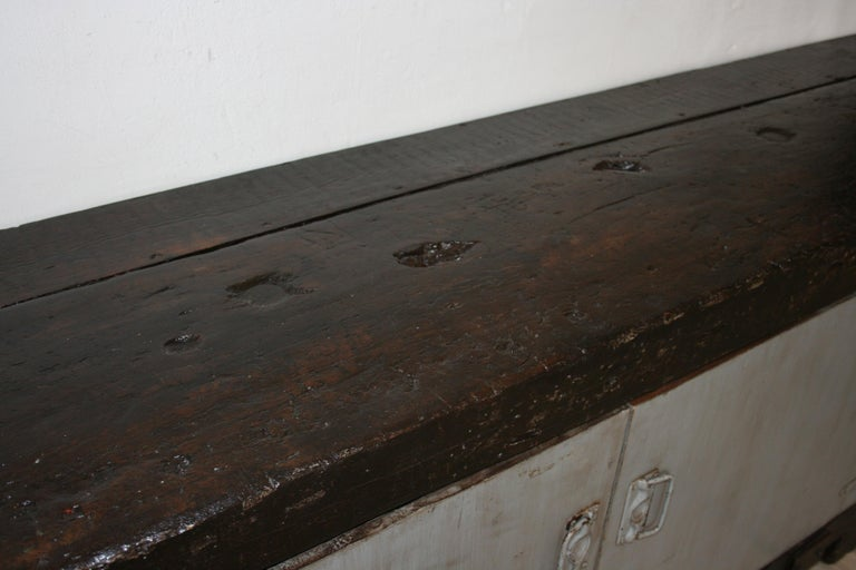 Old Industrial Workbench For Sale 6