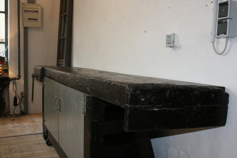 Old Industrial Workbench For Sale 4