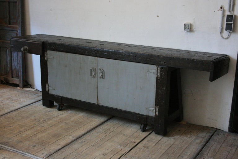 Old Industrial Workbench For Sale 13