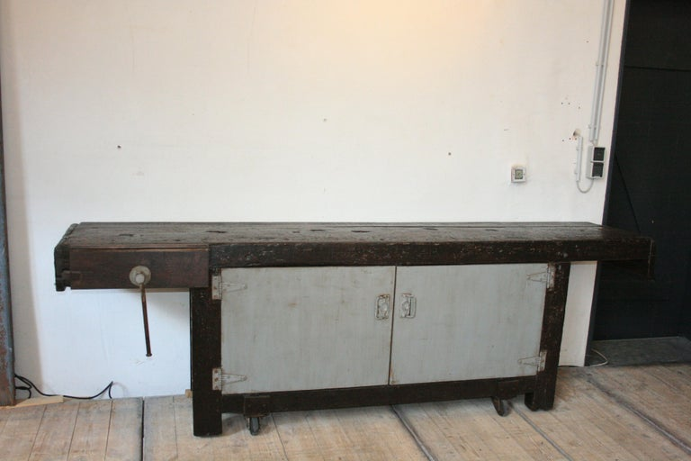 Old Industrial Workbench For Sale 1