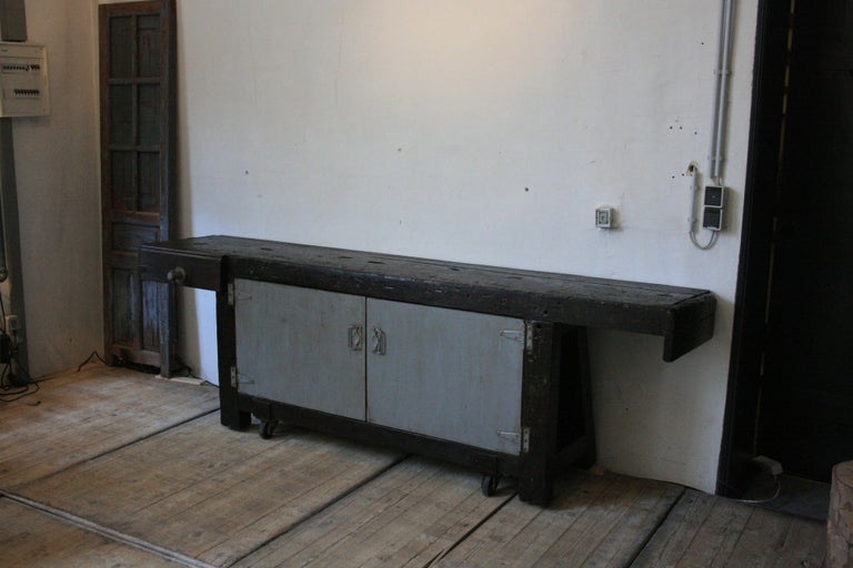Old Industrial Workbench For Sale 12