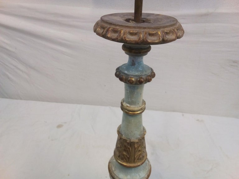 18th Century Italian Wood Candelabra of Order of the Sacred Heart For Sale 3