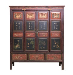 Late 19th Century 4-Door Cabinet from Zhejiang