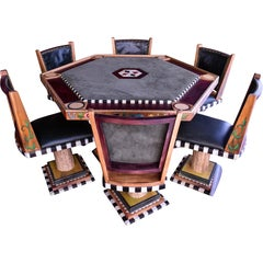 Artist Commissioned Poker Table