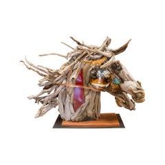 Driftwood Horse Sculpture by Tina Milsavljevich