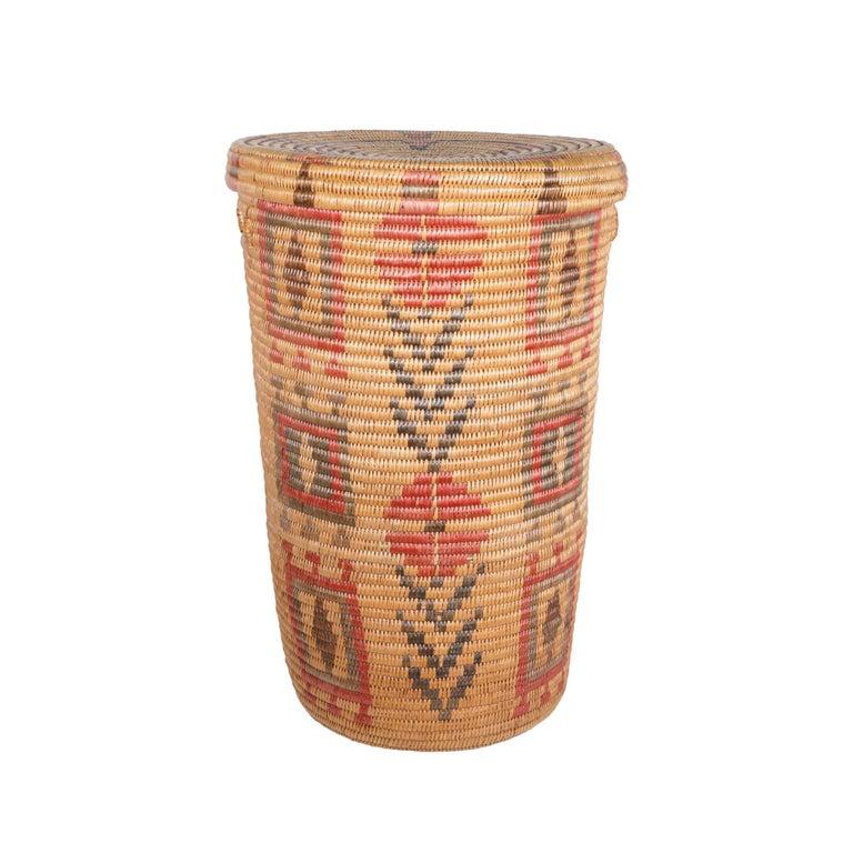 20th Century Jicarilla Apache Lidded Basket For Sale