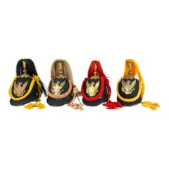Four Indian War Period Helmets