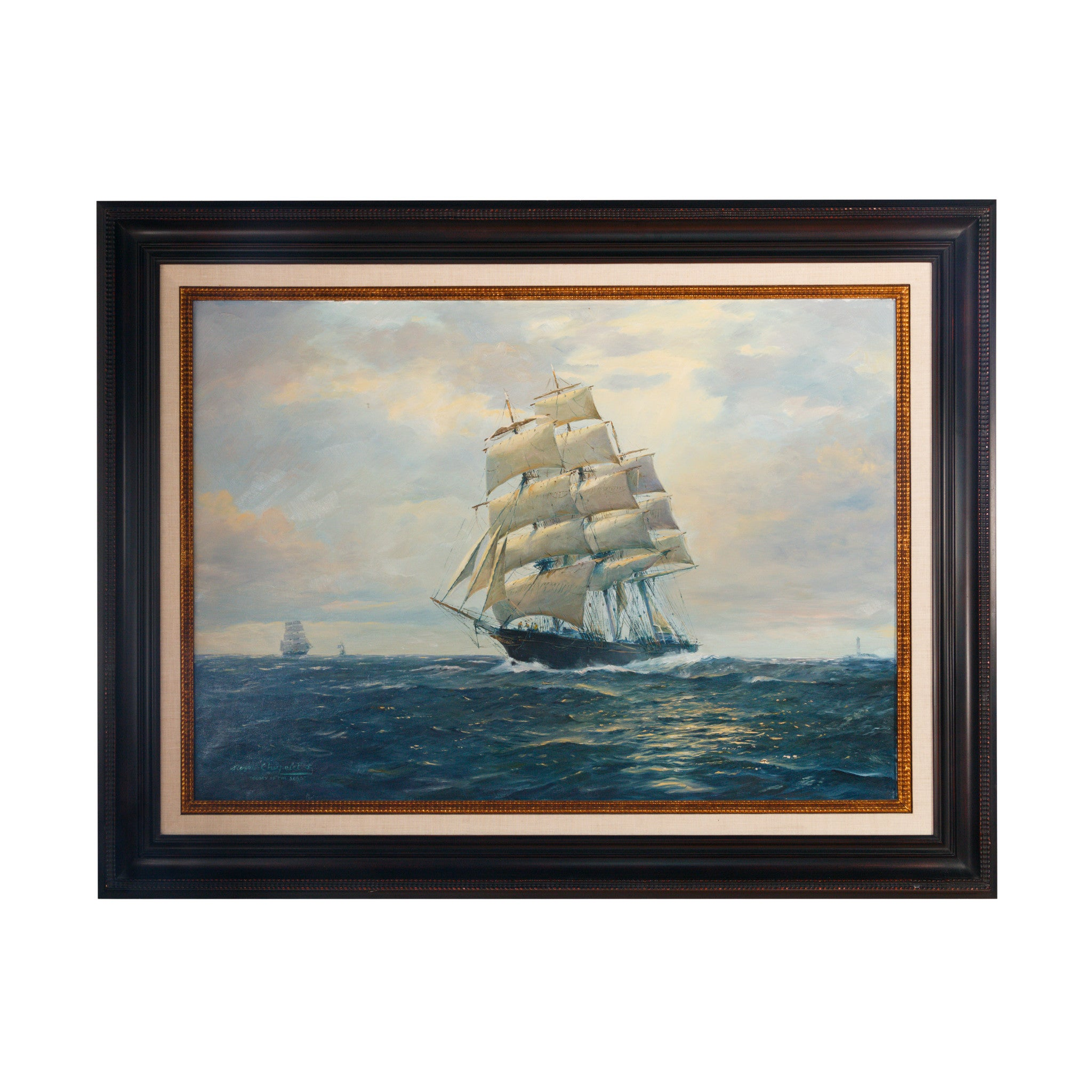 """""""Glory of the Seas"""" Painting by Roger Chapelet"""