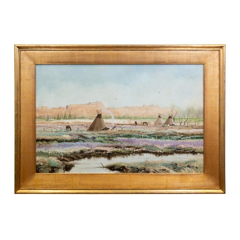 """Original Painting """"Spring in the Rockies"""" by Thomas DeDecker"""