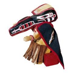 Northwest Doll with Thunderbird, Eagle Mask