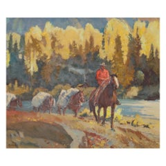 """Stagecoach Crossing"" Original Painting by Sheryl Bodily"