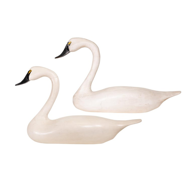 Swan Decoy Pair