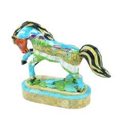 Turquoise Desert Stallion Sculpture
