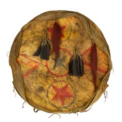 Pueblo Horse Hide Dance Shield