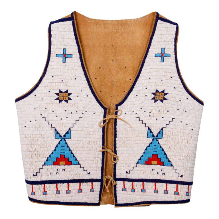 Sioux Beaded Vest with Matching Moccasins