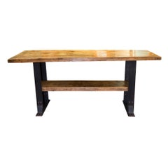 Rustic Pine Workbench Table