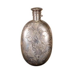 Victorian Sterling Silver Flask