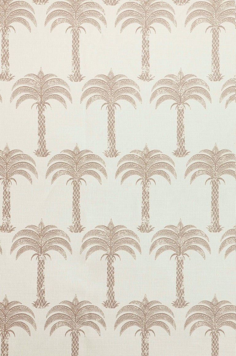 'Marrakech Palm' Contemporary, Traditional Fabric in Midnight Blue For Sale 1