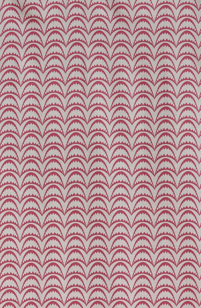'Arcade' Contemporary, Traditional Fabric in Raspberry For Sale 2