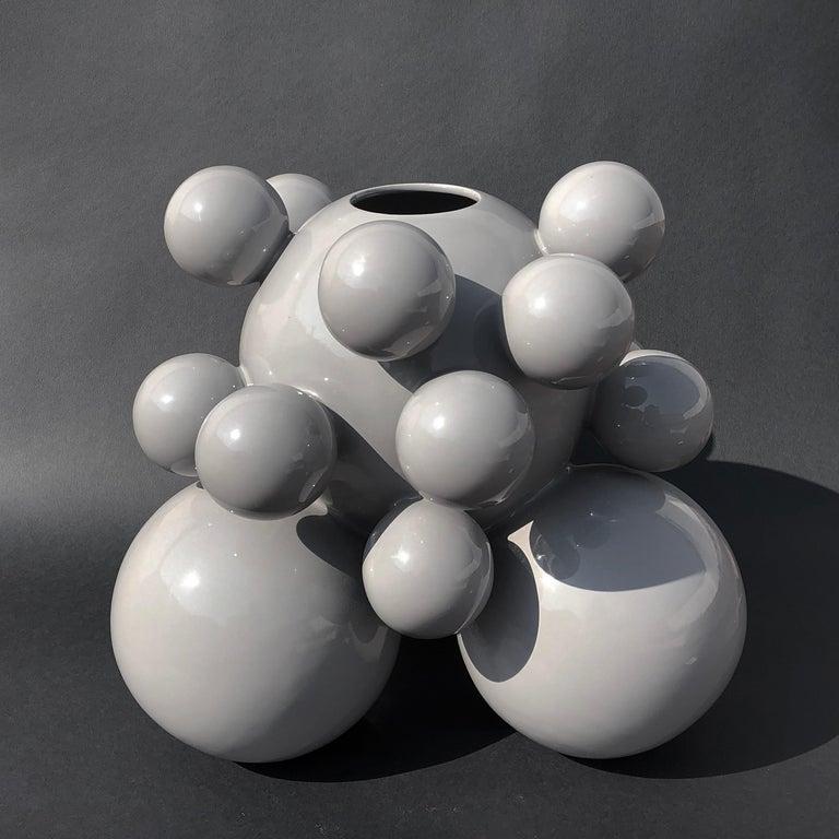 Organic Modern Fine Art Ceramic Huitlacoche Vase/Urn Handmade, Modern Organic Minimalist Style For Sale