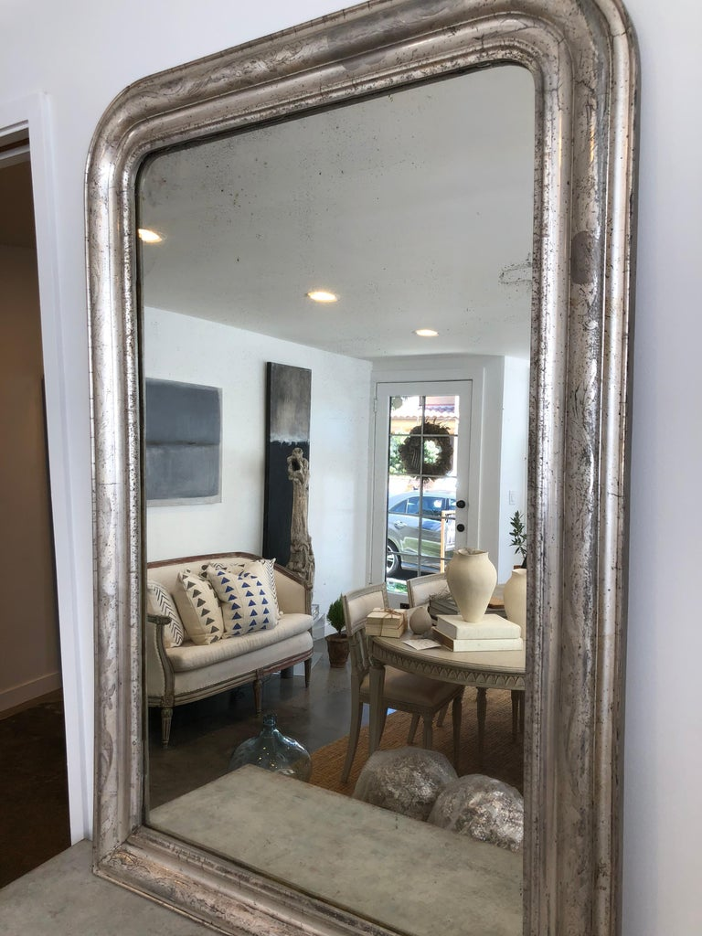 French Luis Philippe Silver Mirror For Sale 1