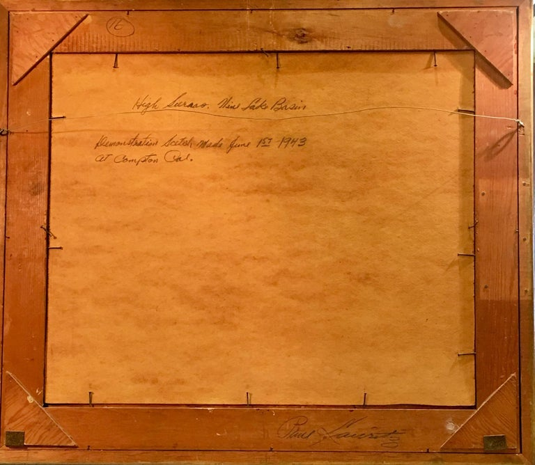 Masonite Original Paul Lauritz High Sierras Nine Lake Basin Early California Oil Painting For Sale