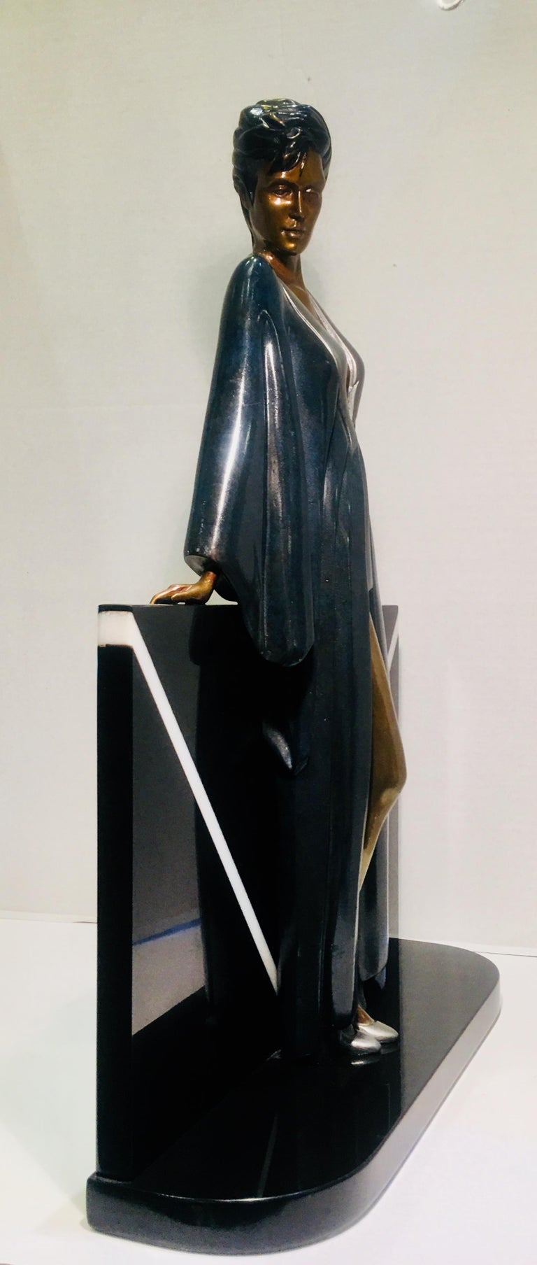 One of only two Patrick Nagel bronze sculptures to make it out of the foundry and limited to 180 pieces in the world,