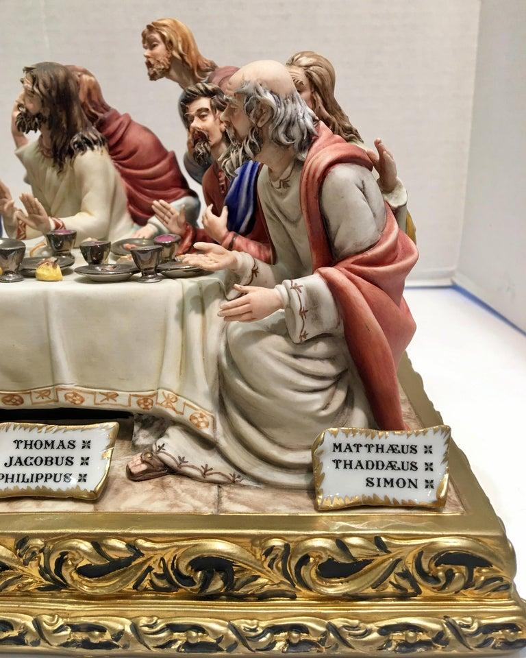 """20th Century Fine Italian Capodimonte """"The Last Supper"""