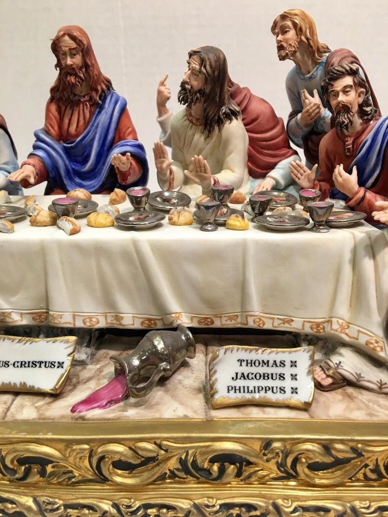"""Fine Italian Capodimonte """"The Last Supper"""