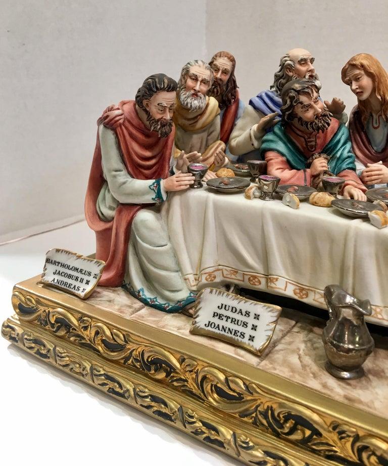 """Renaissance Fine Italian Capodimonte """"The Last Supper"""