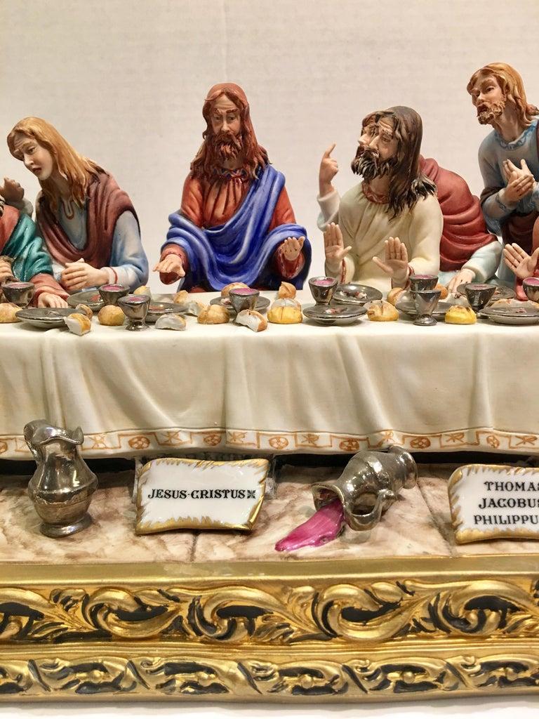 """Fired Fine Italian Capodimonte """"The Last Supper"""