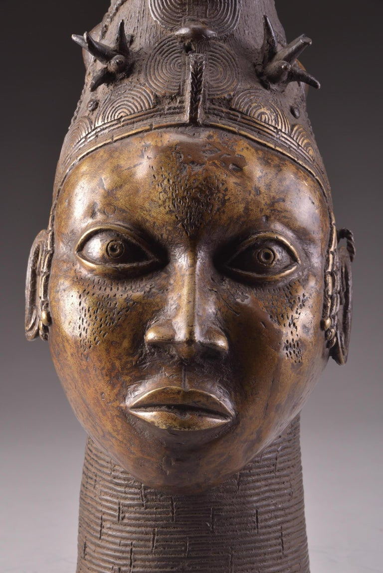 Beninese Bronze Benin Head For Sale