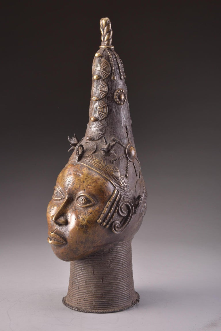 Bronze Benin Head For Sale 2