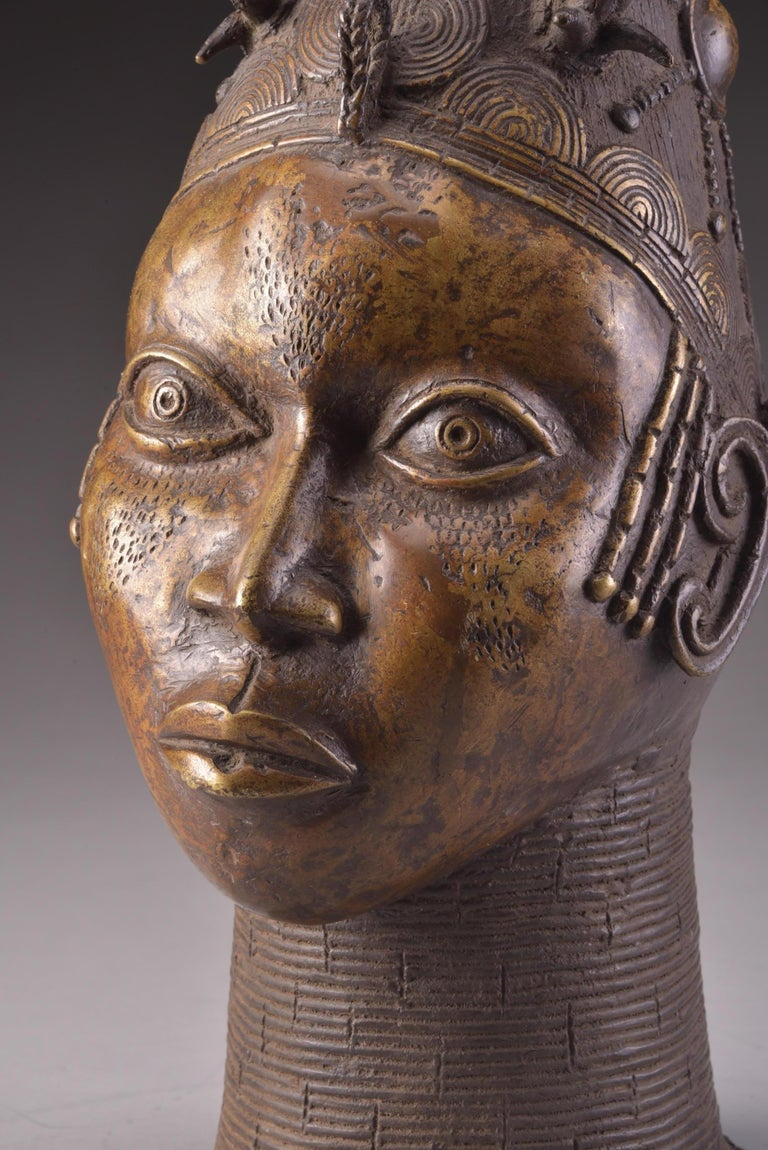 Bronze Benin Head For Sale 5