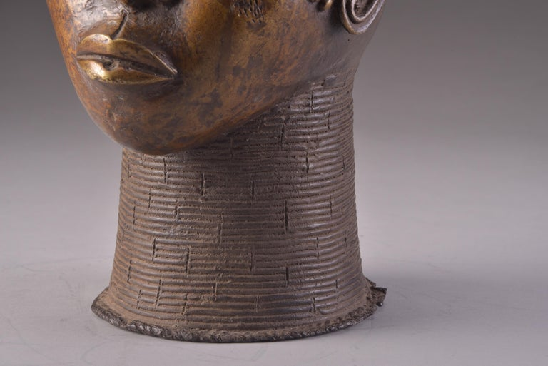 Bronze Benin Head For Sale 4