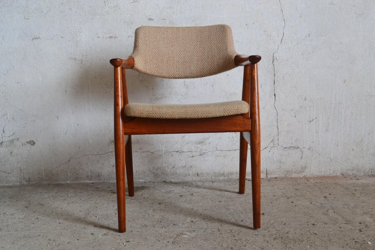 A GM11 Glostrup Mobelfabrik armchair, designed by Svend Åge Eriksen in the 1960s.