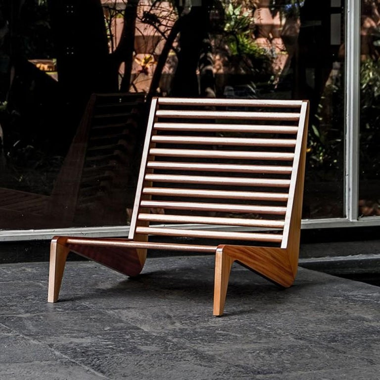 Mid-Century Modern ALA Mahogany Bench Outdoor Furniture by ATRA For Sale