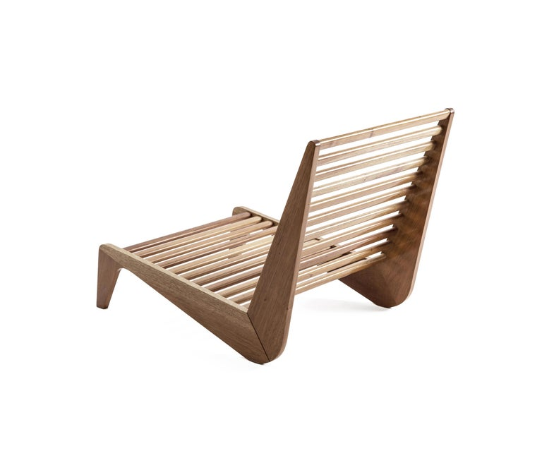 Hand-Carved ALA Mahogany Bench Outdoor Furniture by ATRA For Sale