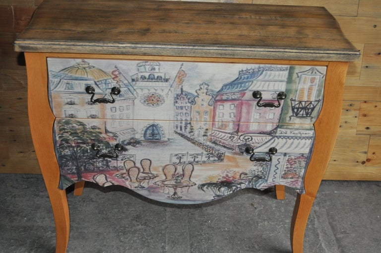 Chest of Drawers with Paris Photo For Sale 2