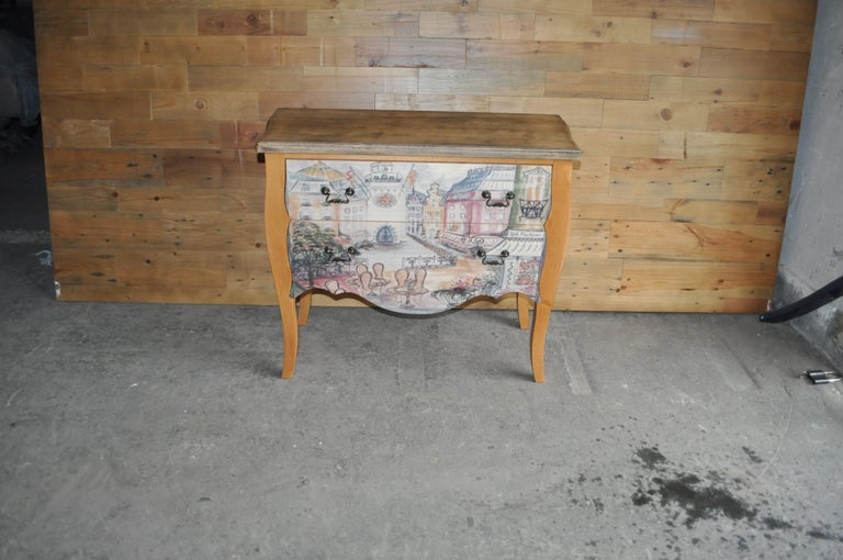 Chest of Drawers with Paris Photo For Sale 3