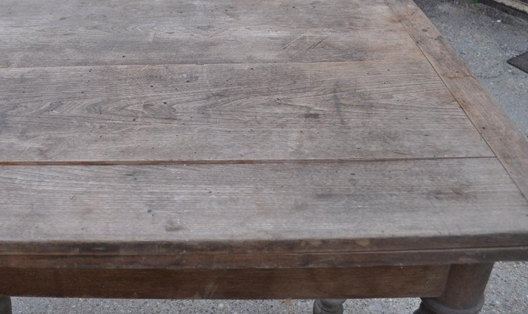 Mid-20th Century Antique Farm Table /A Top Which Pivots through 90 Degrees For Sale
