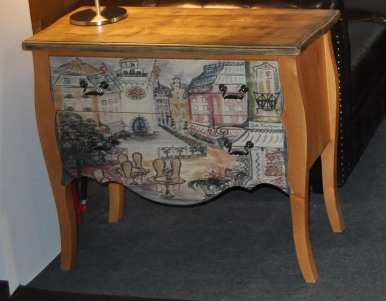 Chest of Drawers with Paris Photo For Sale 5