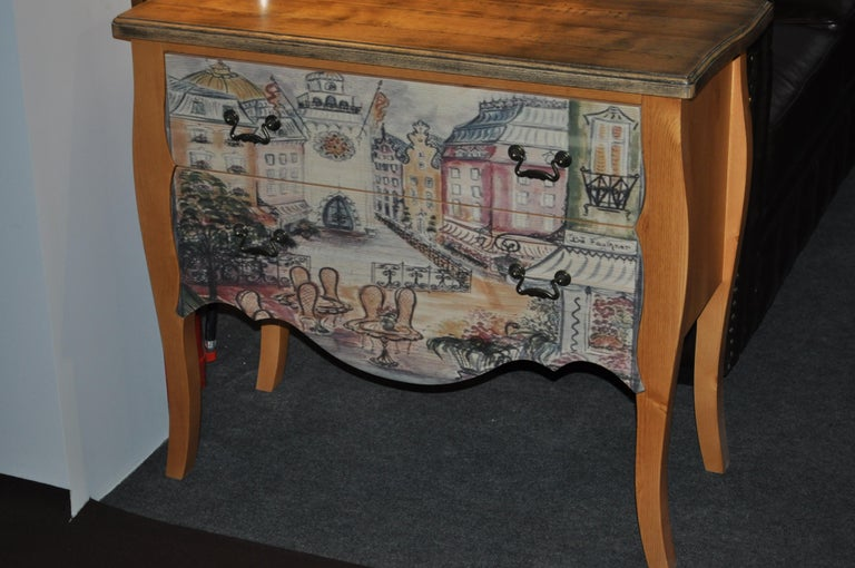 Chest of Drawers with Paris Photo For Sale 6