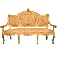 Louis Philippe Neapolitan Gold Sofa Dated 1850