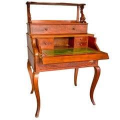 Writing Desk in Mahogany Carlo X with Raised and Mechanical Opening, France 1830