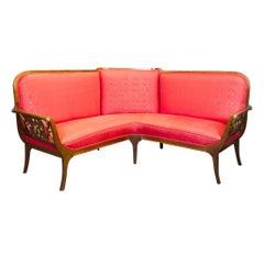 Classicistic Corner Sofa Made of Mahogany, England, circa 1800